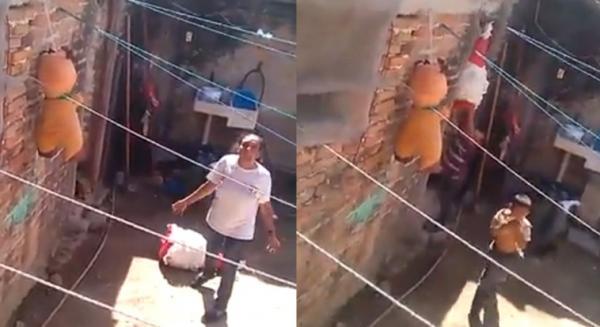 VIDEO QUE POCA: Madre maltrata a sus hijos y la graban