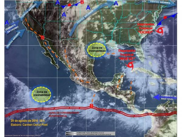 Tormentas muy fuertes, el pronóstico para Michoacán