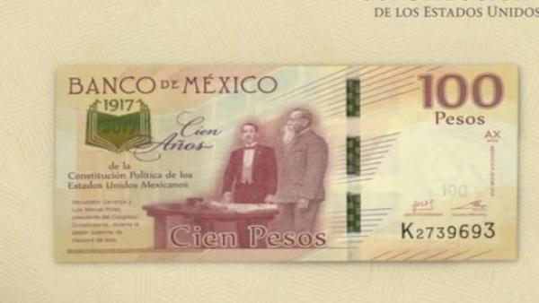 Alerta Banco de México por circulación de billetes de 100 pesos falsos