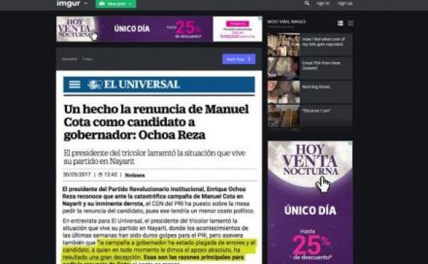 Afirma Manuel Cota que resultados favorecen a su alianza