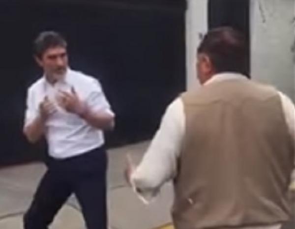 Funcionario de Sagarpa protagoniza pelea en la calle