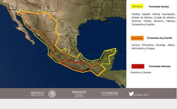 Pronostican lluvias fuertes para Sinaloa por 'Hilary'