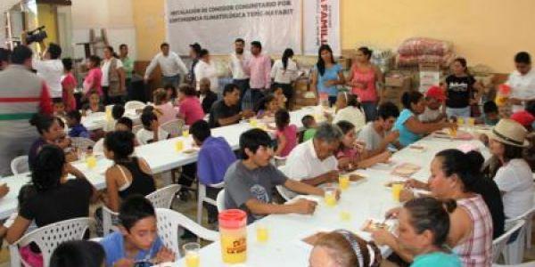 Instala sedesol comedor comunitario en colonia ruinas de for Proyecto de comedor comunitario